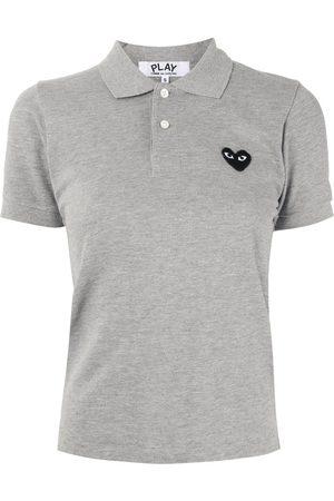 Comme des Garçons Dames Poloshirts - Logo embroidered polo shirt