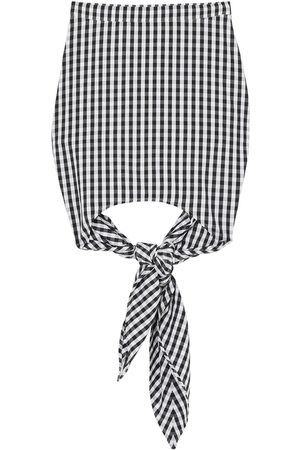 Burberry Gingham scarf-tie mini skirt