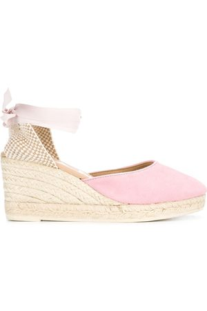 MANEBI Lace-up wedge espadrilles