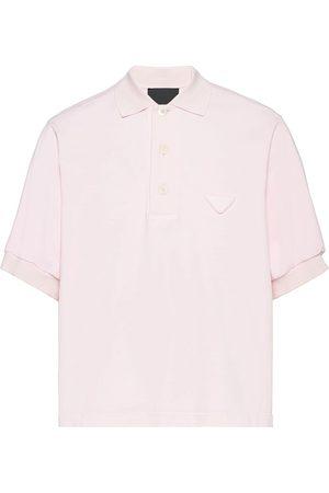 Prada Logo-patch polo shirt