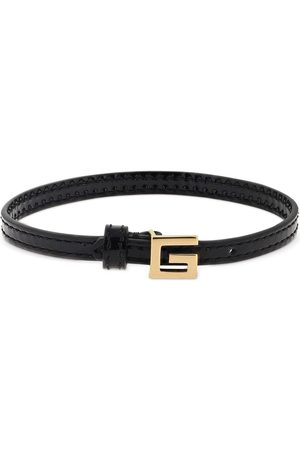 Gucci Leather Bracelet W/ Square G Detail