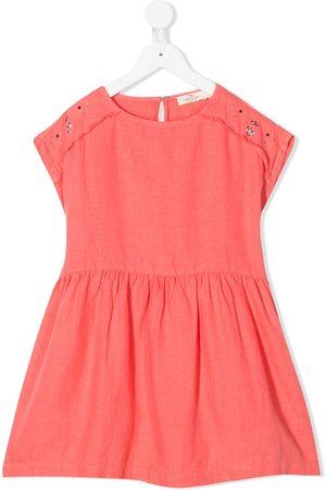 Le pandorine Stud-embellished linen dress