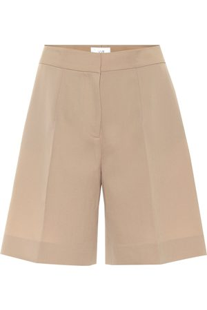 Victoria Victoria Beckham High-rise wool-blend shorts