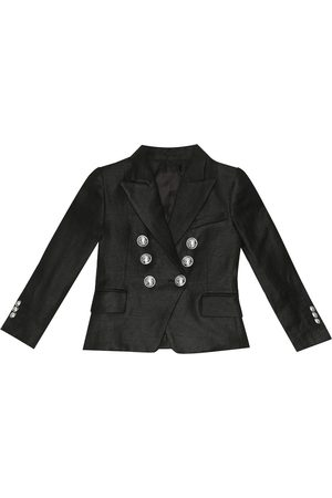 Balmain Linen-blend blazer