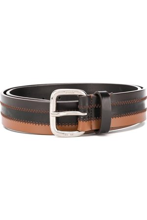 Gianfranco Ferré 1990 two-tone leather belt