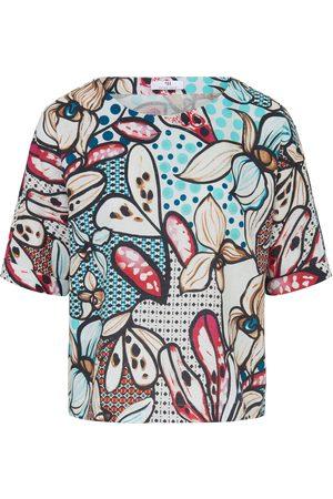 Peter Hahn Shirt van 100% linnen korte mouwen multicolour