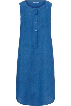 mayfair by Peter Hahn Dames Mouwloze jurken - Mouwloze jurk van 100% linnen ronde hals
