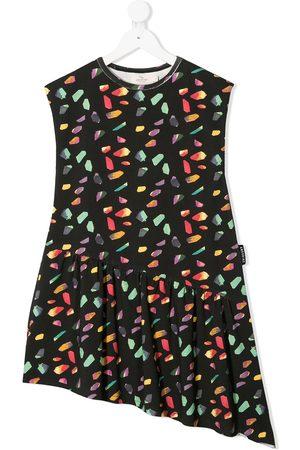 Le pandorine Geometric-print asymmetric dress