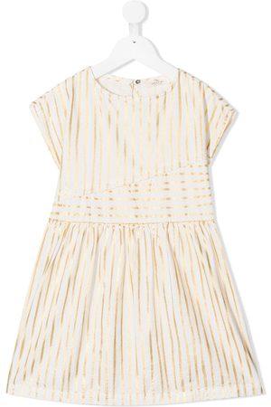 Le pandorine Striped cotton midi dress
