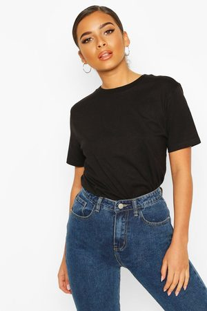Boohoo Petite Round Neck Cotton T-Shirt
