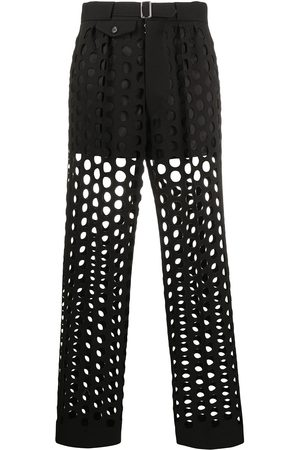 Maison Margiela Hole punched tailored trousers