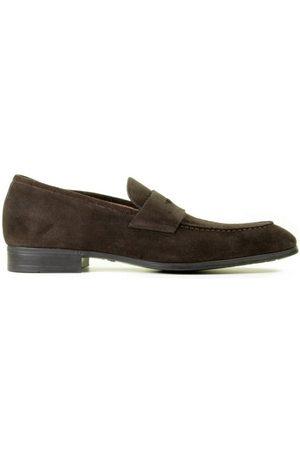 santoni Heren Loafers - MGSI14944SMOISYWT50 Dark Brown Herenloafers