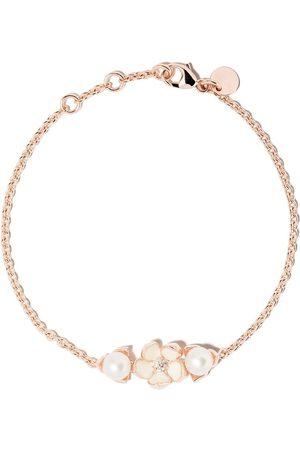 SHAUN LEANE Cherry Blossom single diamond and pearl bracelet