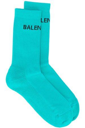 Balenciaga Logo ribbed ankle socks