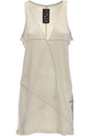 Rick Owens Dames Hemdjurken - Champion V Neck Jersey Mesh Tunic Dress