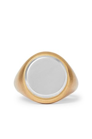 M. COHEN 18-karat And Sterling Silver Signet Ring