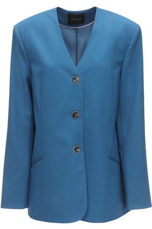 LESYANEBO Dames Wollen jassen - Cool Wool Single Breasted Blazer