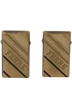 Gianfranco Ferré Pre-Owned 2000s rectangular logo cufflinks