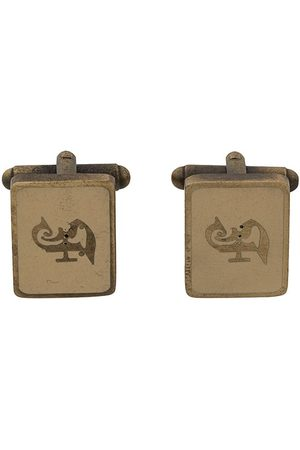 Gianfranco Ferré Pre-Owned 2000s logo squared cufflinks