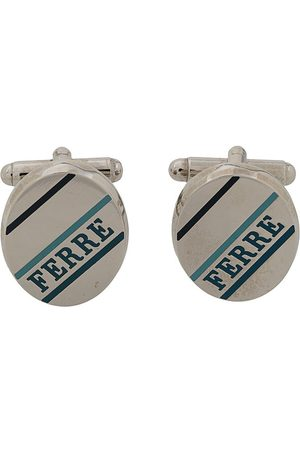 Gianfranco Ferré Pre-Owned 2000s logo oval cufflinks