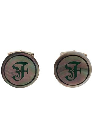 Gianfranco Ferré Pre-Owned 2000s iridescent F logo cufflinks