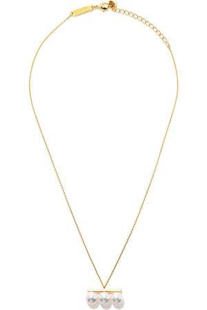 Tasaki 18kt yellow Balance Neo Collection Line Akoya pearl pendant necklace