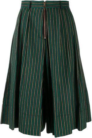 adidas Striped wide-leg shorts