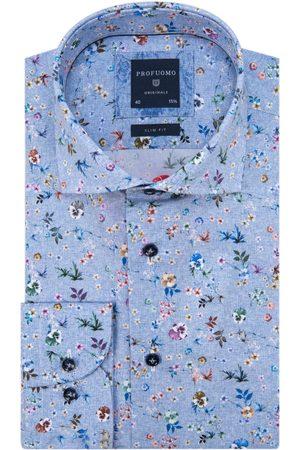 Profuomo Heren Overhemden - Originale slim fit overhemd met lange mouwen