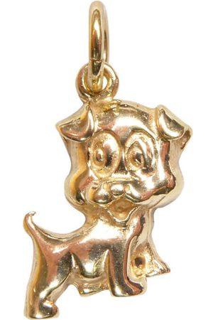 Christian 14 karaats gouden hond hanger