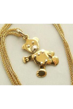 Christian Gouden collier met teddybeer hanger