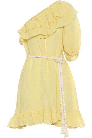 Lisa Marie Fernandez Arden linen-blend gauze minidress