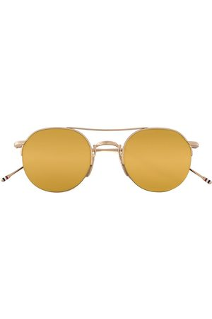 Thom Browne Gold & Brown Aviator Sunglasses
