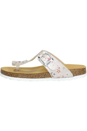 KEQ Meisjes Slippers - Champagne