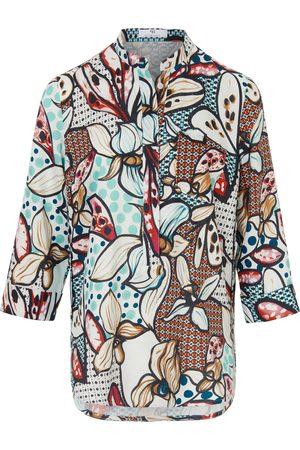 Peter Hahn Lange blouse 100% linnen 3/4-mouwen Van multicolour