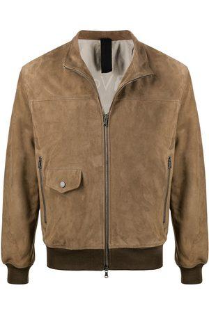 Orciani Heren Leren jassen - Suede-effect bomber jacket