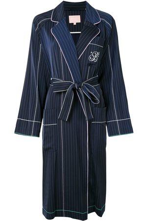 BAPY Striped wrap-style jacket