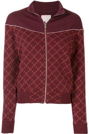 BAPY Intarsia knit zipped jacket