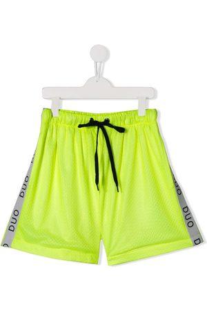 DUOltd TEEN side stripe track shorts