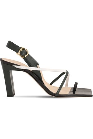 Wandler 85mm Elza Leather Toe Ring Sandals