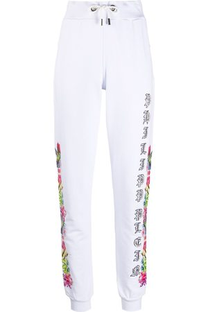 Philipp Plein Jogging Trousers Flowers