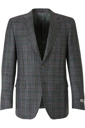 CANALI Straight Checked Blazer