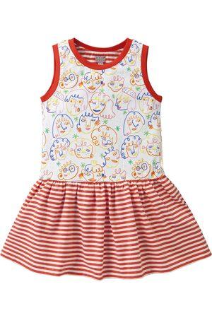 Oilily Jersey jurkje met rood streepje en artistieke print