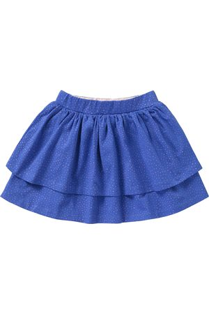 Oilily Blauwe jersey rok met roze mini-dots print