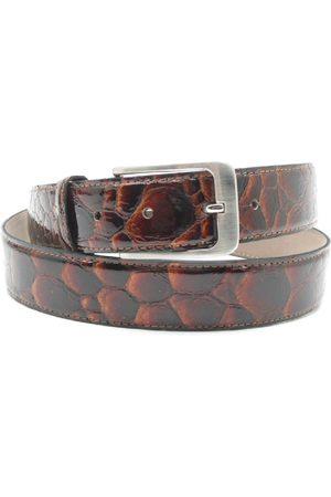 Scarpe Pazzo Belt - brown pebble patent
