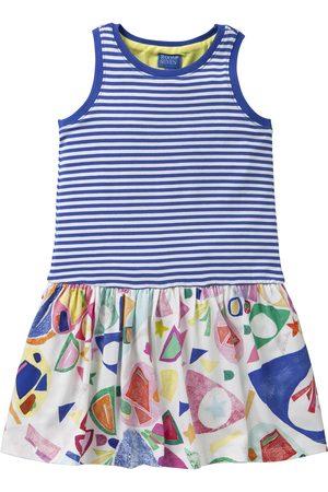 Oilily Jersey jurkje met blauwe duo print in zomerse kleuren