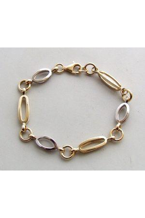 Christian 14 karaat gouden bicolor armband