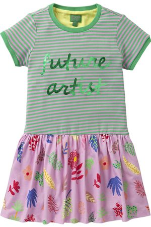 Oilily Jersey jurkje met streep en artist print
