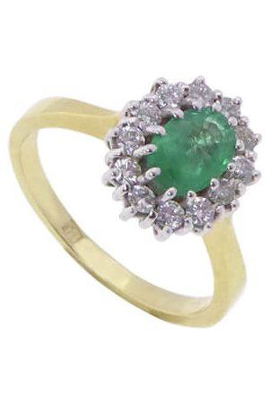 Christian Ring met smaragd en diamanten