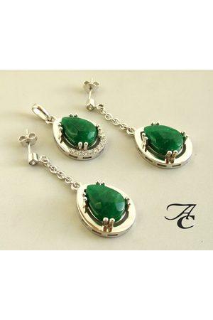 Atelier Christian Hanger en oorbellen met jade en briljant
