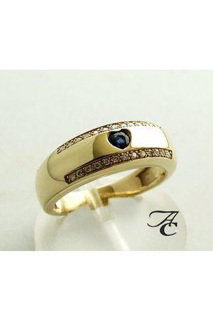 Atelier Christian Gouden harten ring met diamanten en saffieren